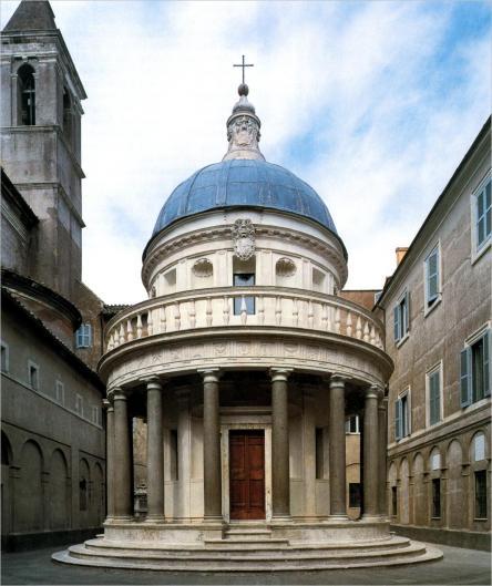 San pietro in montorio e il tempietto di donato bramante for Architecture quattrocento