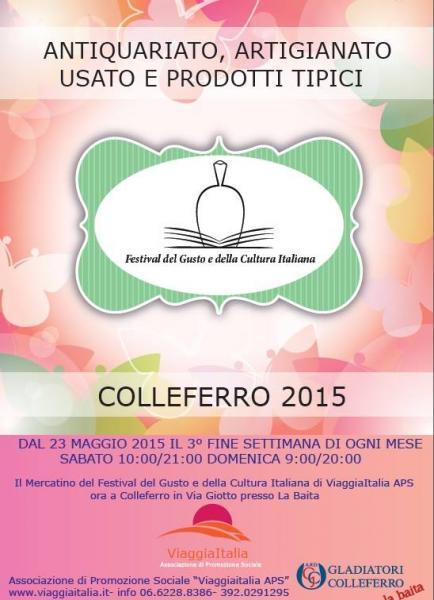 Festival del gusto e della cultura italiana colleferro rm for Mercatino colleferro