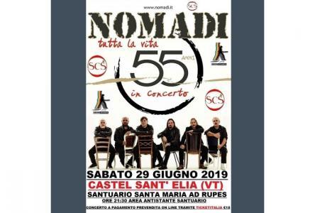 Calendario Concerti Nomadi.Concerto Nomadi Castel Sant Elia Vt 29 06 2019 Lazio In