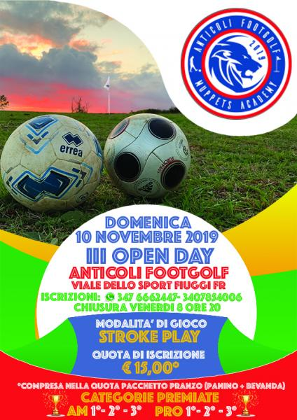 Anticoli Footgolf III Open Day